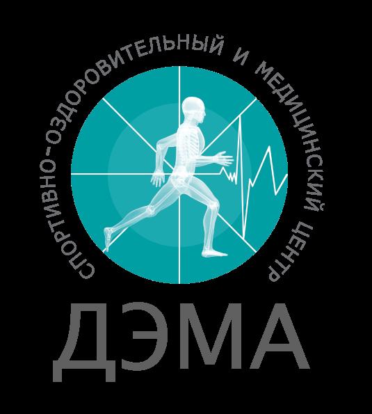 Логотип сети центров езоперационного лечения позвоночника и суставов ДЭМА